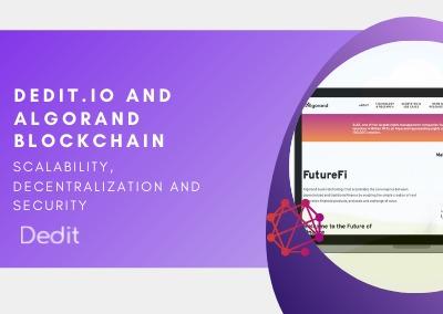 DEDIT.IO on top of the Algorand blockchain