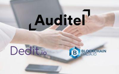 Auditel notarizza sulla blockchain grazie a Dedit