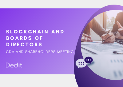 Blockchain for boards of directors and shareholders meeting